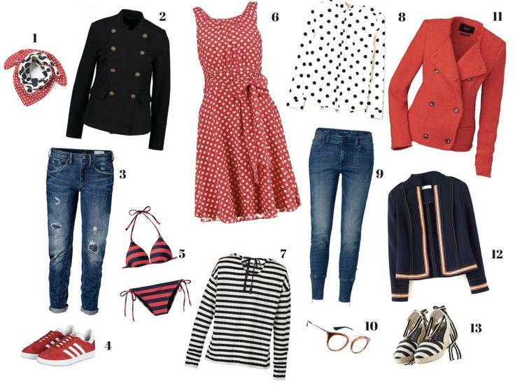 Trendfarbe_ Frisch, Fashiontrends rot+blau