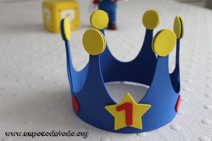 www.unpocodetodo.org - Corona de cumpleaños - Otros - Goma eva - birthday - crafts - cumpleaños - DIY - foami - foamy - manualidades - mario bros - nintendo - 1
