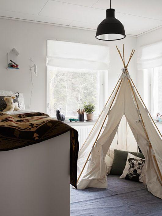 Trendenser - Børneværelse med telt/hule