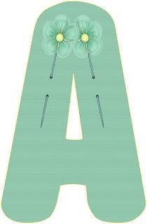 Alfabeto Decorativo: Alfabeto - Florido 36 - PNG - Letras - Maiúsculas ...