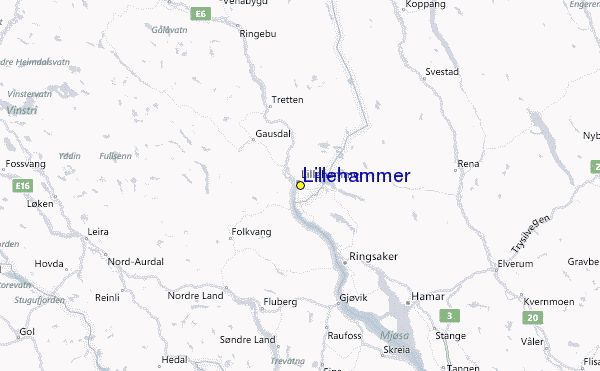 nice Lillehammer Norway Map