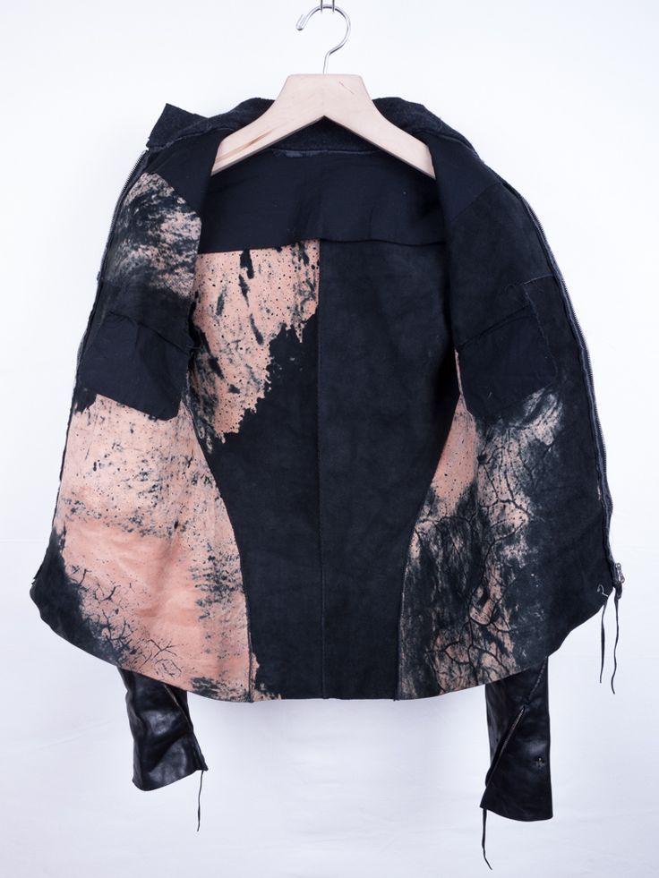 Cyanotype (Blue alternative print) on a jacket?