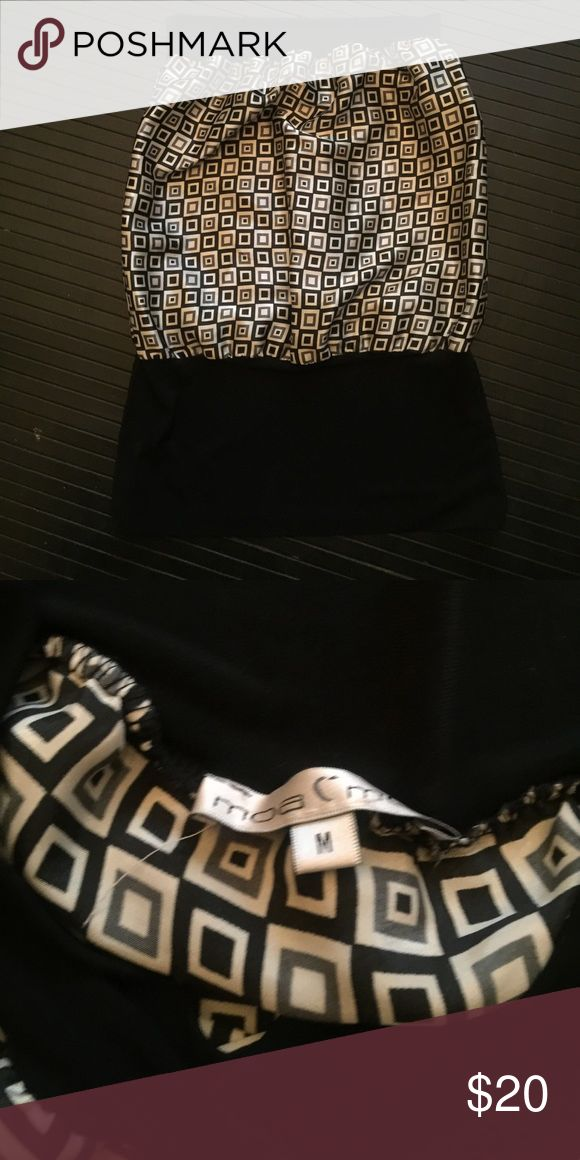 Silk bandeau Black , white and grey bandeau top Tops Blouses