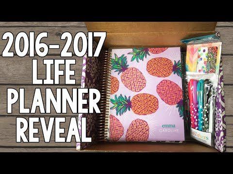 2017 Erin Condren Life Planner Reveal! Neutral Horizontal + Extras   InspiredBlush - YouTube