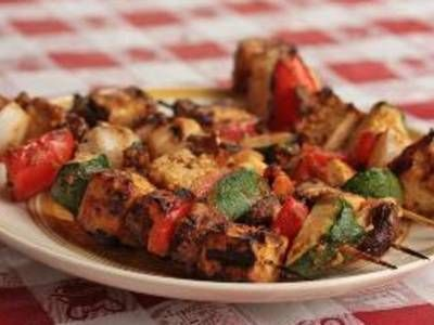 Grilled Tofu Kebabs With Peanut Sauce | Veg. and sides | Pinterest