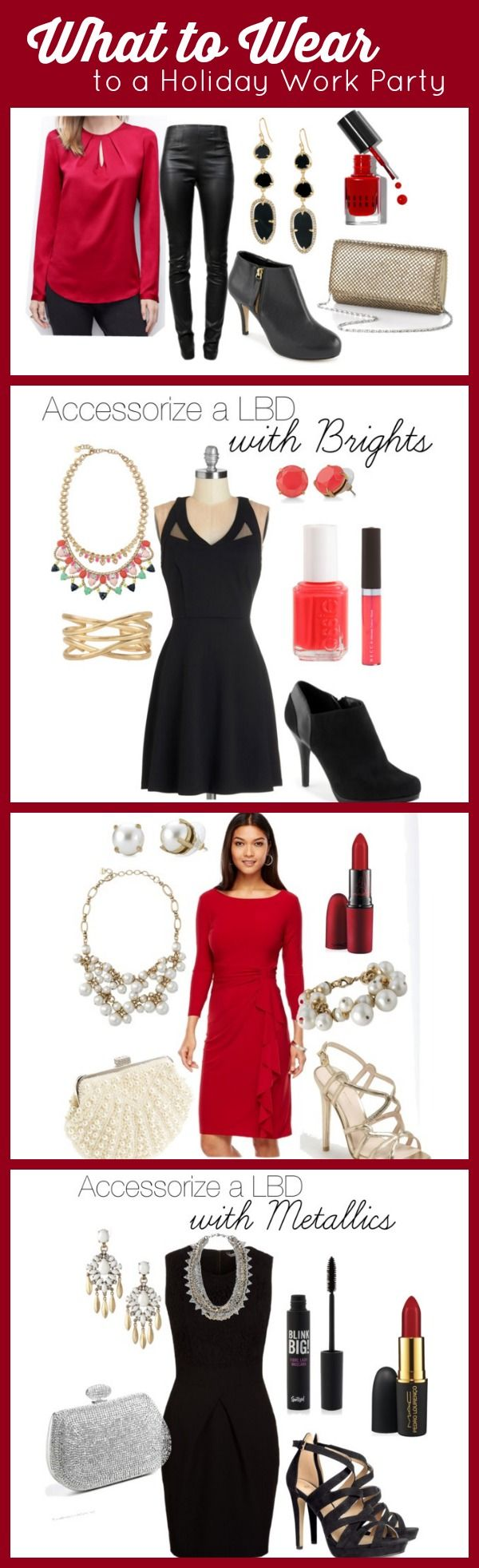 What to Wear to a Company Holiday Party: outfit ideas and shopping links!