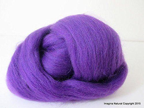 Free Shipping Purple / Violet Handmade Merino Roving Wool Hand Spinning Felting Fibre Araucania Craft Art Chilean Knitting Chunky 18 Microns