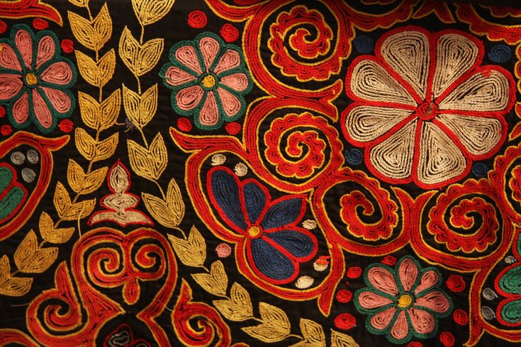 """""""Though we do not know where Suzani came from, the earliest pieces have been found in Egypt. It is understood, that initially this tradition started with just simple processes of repairing fabric, but then developed into something lovelier and very decorative. Since embroidery was a mark of wealth and status, the craft of embroidery and textiles flourished, and so did Suzani."""""""