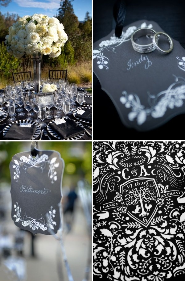 Elegant Black & White Wedding