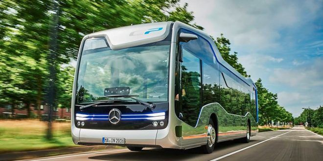 Mercedes-Benz presented a prototype unmanned bus of the future