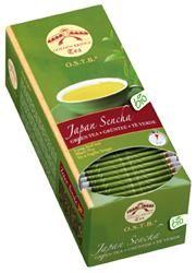 TÈ VERDE JAPAN SENCHA O.S.T.B.  Il tè verde Sencha è il classico della tradizione giapponese ottenuto con uno speciale processo di lavorazione (vaporizzazione ed essiccamento) delle foglie del primo raccolto in primavera. Le foglie lunghe e piatte sono di colore verde smeraldo con delle chiazze di verde pallido, mentre l'infuso è giallo oro. L'aroma ed il gusto dolce ricordano l'erba appena tagliata e la rinfrescante brezza di mare.