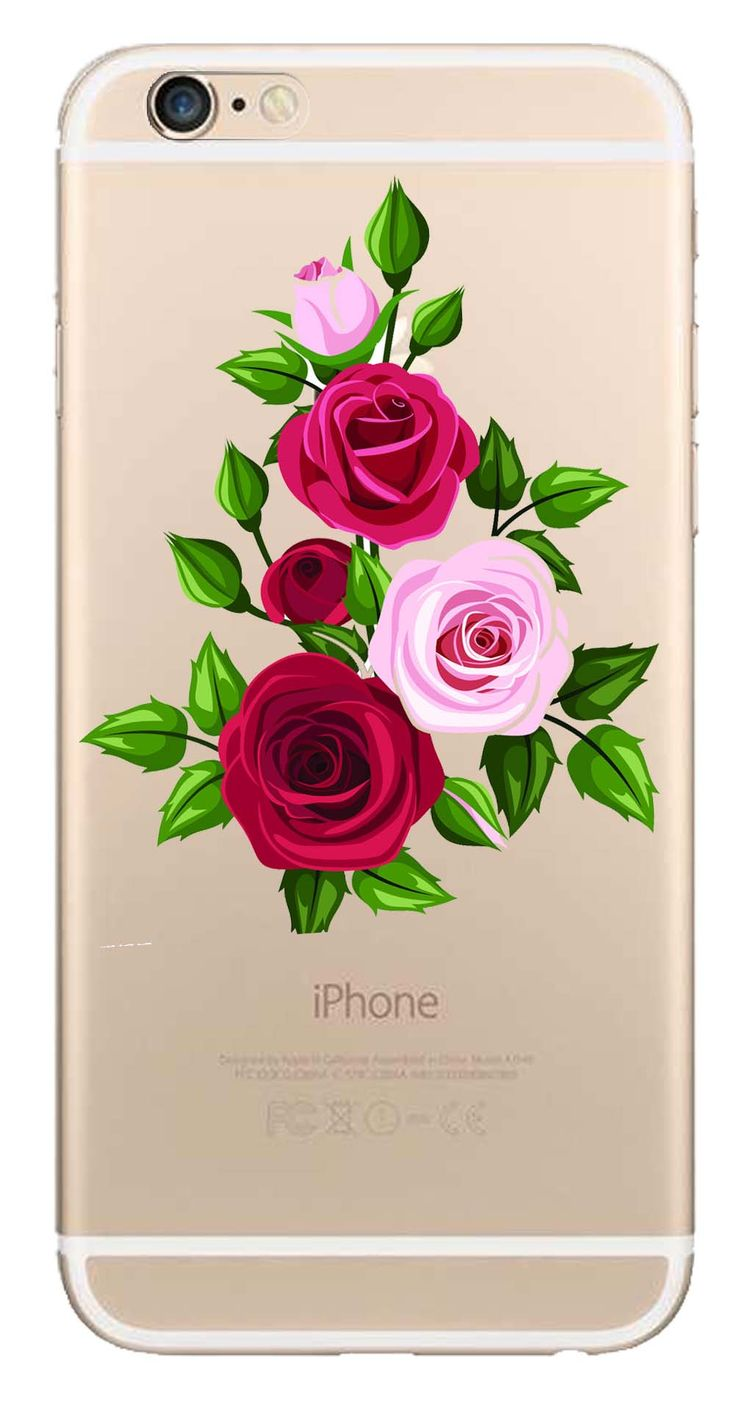 Whatskin DIY Style Color Drawing Flowers Series 03 Clear Back Cover for iphone 6