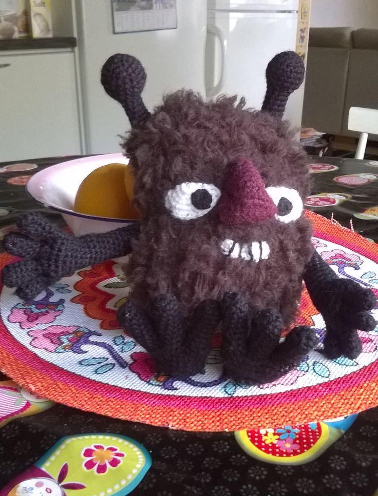 Crochet moomin stinky-virkattu haisuli handmade by Hanna S.