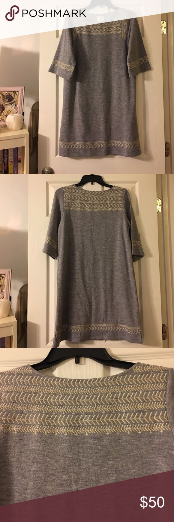 Anthropologie Dress❤ Very pretty and stylish🖤 only worn 2 times, no flaws and in very good condition. Pair with a long sweater and you have the perfect cold day outfit!💞 Anthropologie Dresses Mini