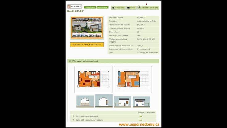 Katalog rodinných domů 2017 hypotéka, měsíční splátky