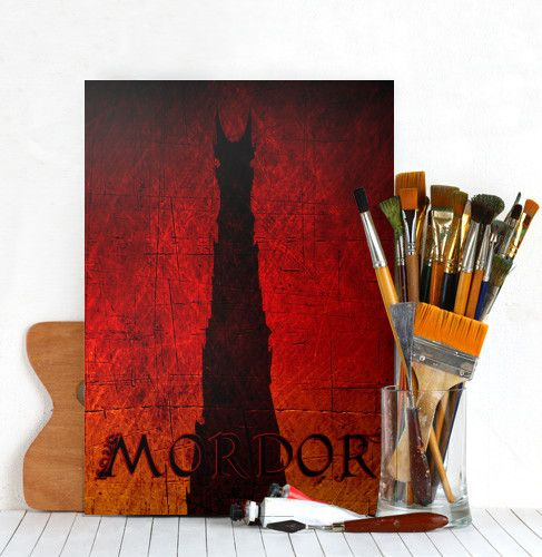 Mordor Tower Poster #tower #fantasy #movie #movieposter #mordor #dark #middle #earth #sauron #poster #homedecor #giftsforhim #giftsforher #displate #metalprint #cinema #cinephile #moviegifts #geek
