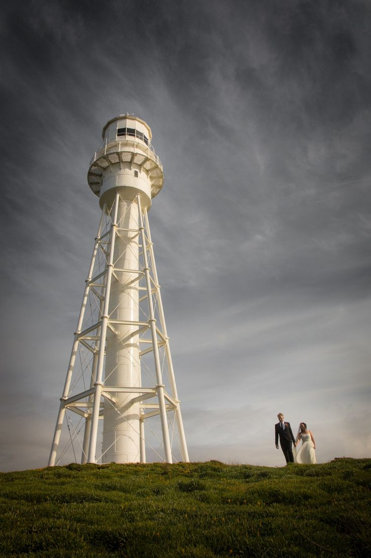 Renee & Boze - just married Currie Lighthouse King Island