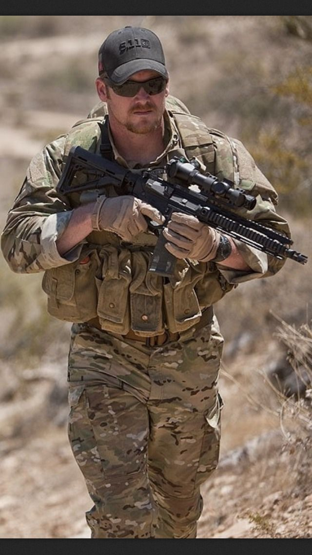 Chris Kyle A real damn american hero....