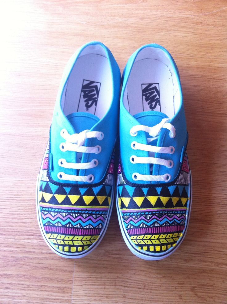 Hand Painted on white vans shoes :)