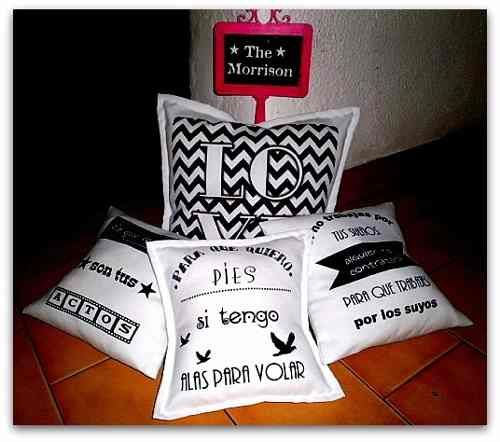 Almohadones estampados, frases, personalizados!! Facebook: The Morrison https://www.facebook.com/pages/The-Morrison/549237288446070?fref=ts