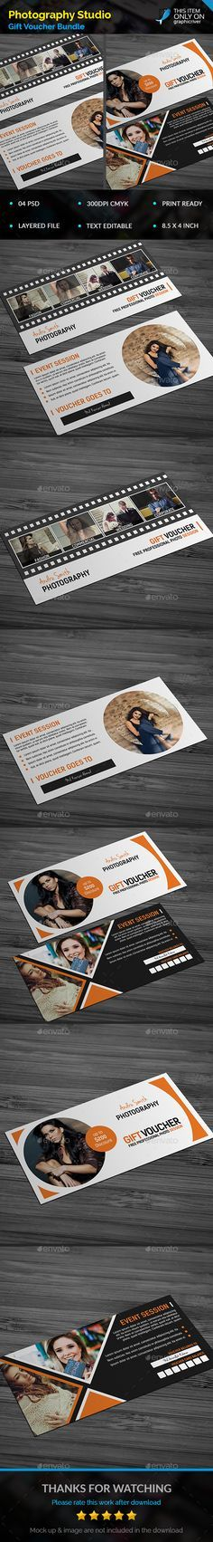 """Photography Gift Voucher Template PSD Bundle. Download here: <a href=""""http://graphicriver.net/item/photography-gift-voucher-bundle/14954865?ref=ksioks"""" rel=""""nofollow"""" target=""""_blank"""">graphicriver.net/...</a>"""