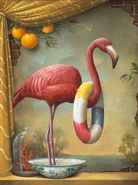 Kevin Sloan || Modern Wilderness: Artists, Editing Prints, Pink Flamingos, Modern Wilderness, Limited Editing, Kevin Sloan, Kevinsloan, Large Size, Painting