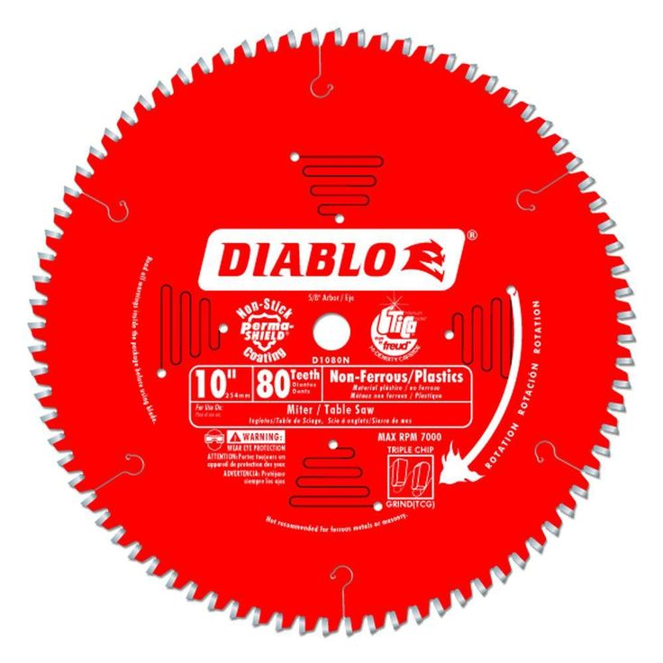 Freud D1050x Diablo 10 Inch 50 Tooth Atb Combination Saw Blade With 5 8 Inch Arbor And Permashield Coati Circular Saw Blades Table Saw Blades Sliding Mitre Saw
