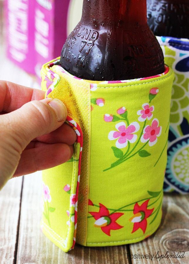 Create these cool DIY fabric drink holders this summer!