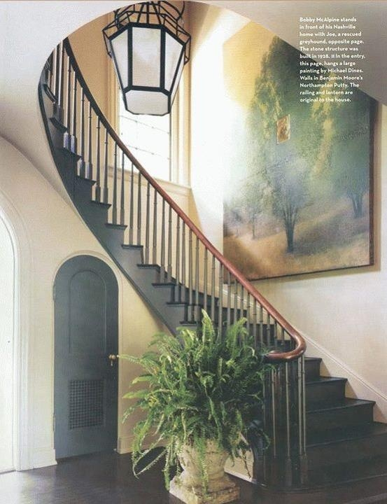 Traditional Staircase/Hallway By McAlpine Tankersley Architecture In The  Entry Of A 1928 Nashville Home Hangs A Large Painting By Michael Dines. The  Railing ...