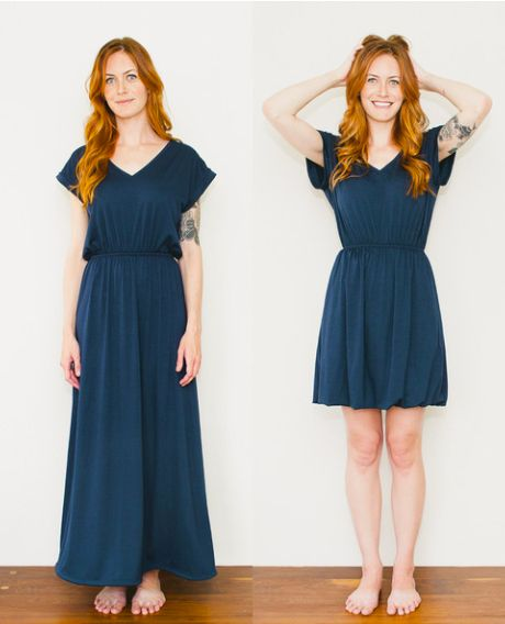 """""""Seamly makes super versatile garments from salvaged fabric : TreeHugger"""" Every college girl loves being able to get many outfits out of one item of clothing!"""
