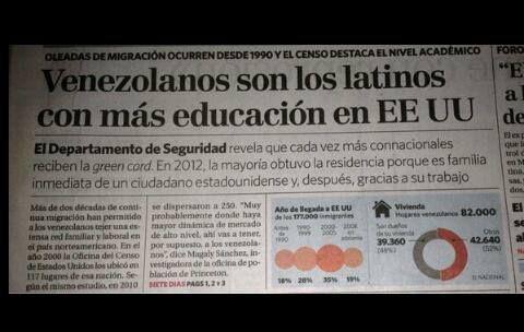 Nivel educativo de emigrantes venezolanos destaca en EEUU