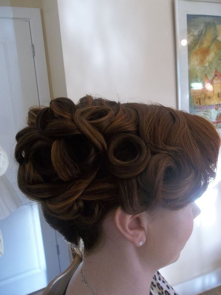 One of our brides at her bridal trial, where we go over a few options for the big day Hair & makeup Wedding Hair and Makeup Artists http://weddinghairandmakeupartists.com/