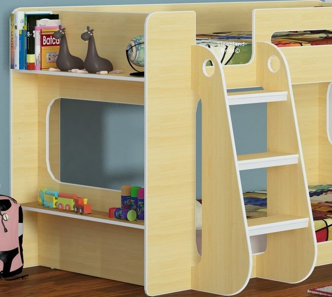 Modern Shorty Bunk Beds With Shelf