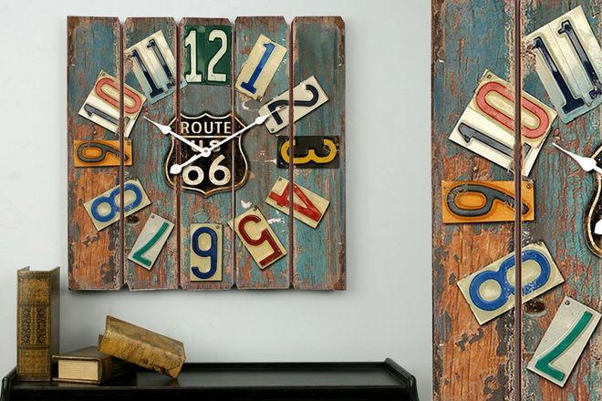 Reloj Routte 66 de colores los números con los que pongas donde lo pongas,destacará