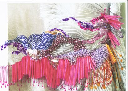 NPP Beaded drawing- Inspired by hair and movement