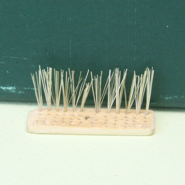 Make Brooms and Brushes for a Range of Miniature Scenes and Scales: Finish Each Line of Bristles Before You Begin the Next