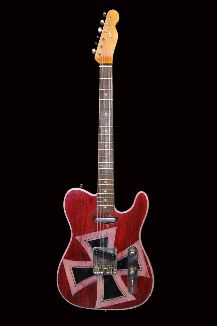 40 Best Guitars Images On Pinterest Custom Electric Humbucker Wiring Challenge Mylespaulcom Telecaster Red Baron Hand Painted By Miriam Paternoster