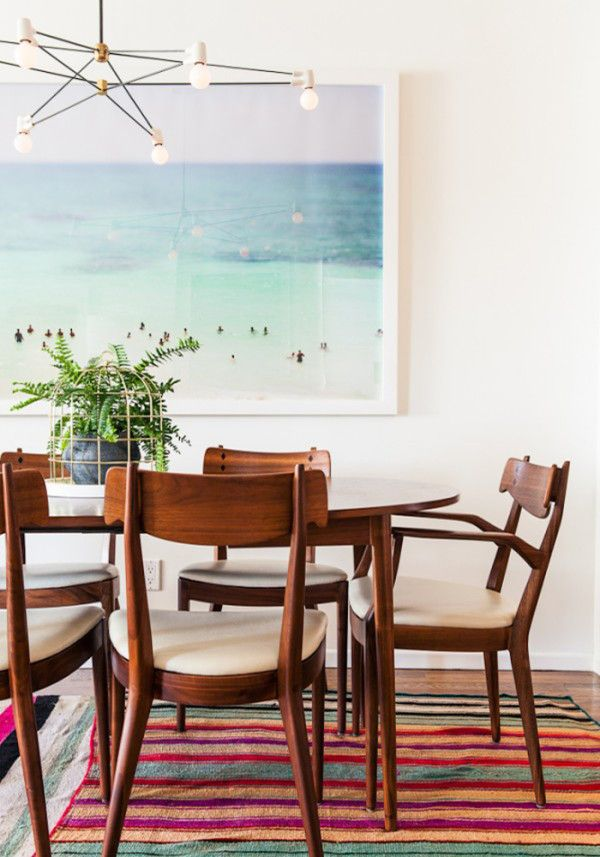 12 Dining Rooms Where You'd Never Miss a Family Dinner: DesignLoveFest blogger Bri Emery's home made over by HGTV star Emily Henderson.