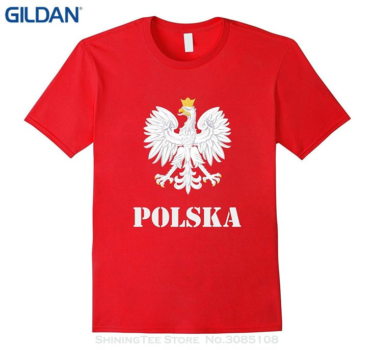 GILDAN 2017 Hot Sale Super Fashion Polska Poland Flag T-shirt Polish Flag Tee Shirt