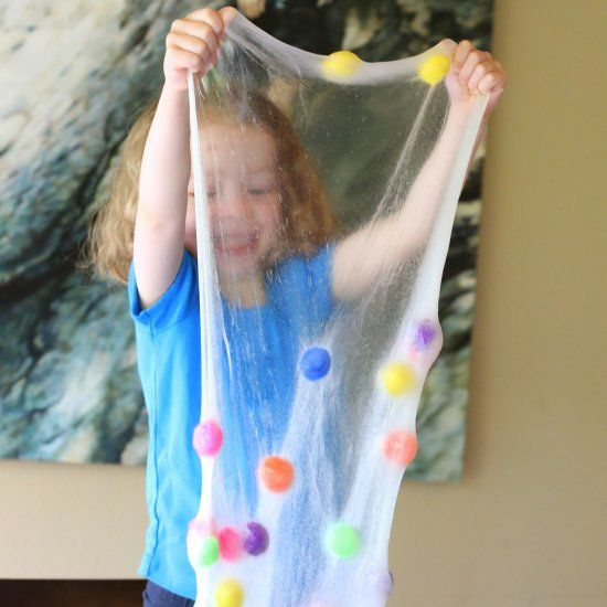 A recipe for silly stretchy fun - DIY Polka Dot Slime!
