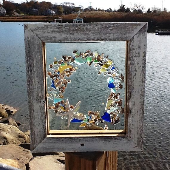 Sea Glass Wreath Decorating Pinterest Circles The
