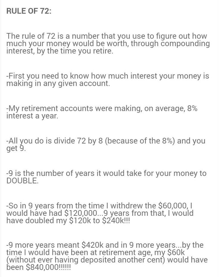 Best 25  Rule of 72 ideas on Pinterest | Retirement savings ...