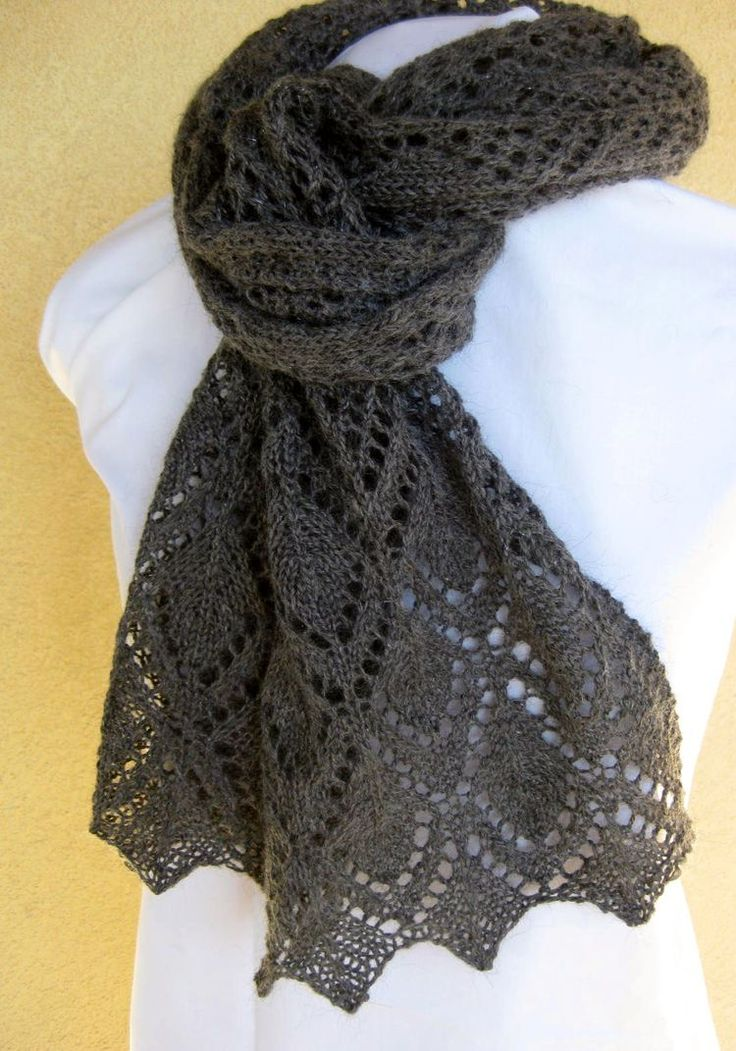 Orbspinner scarf knitting pattern - color and style look like Shayla