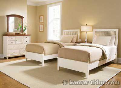 Furniture kamar hotel tempat tidur Minimalis