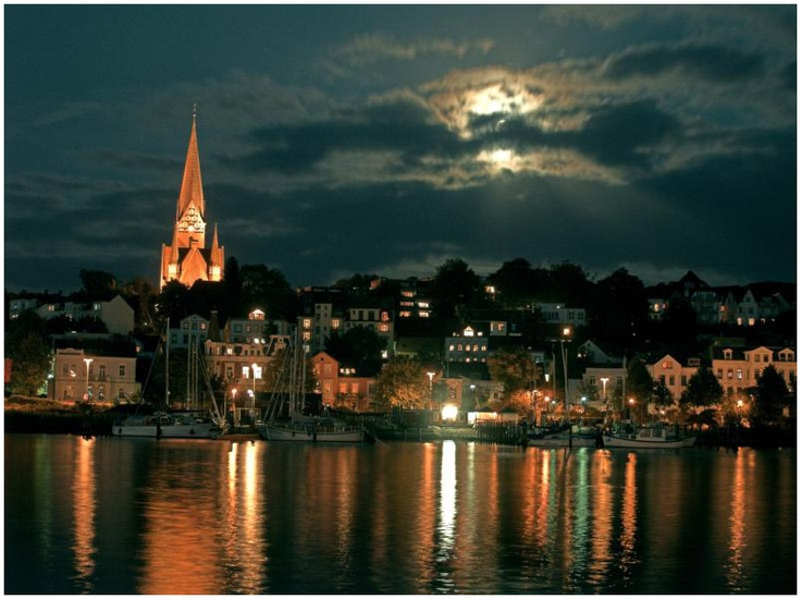 Flensburg, Germany at the border to Denmark. partner's mother lives there.