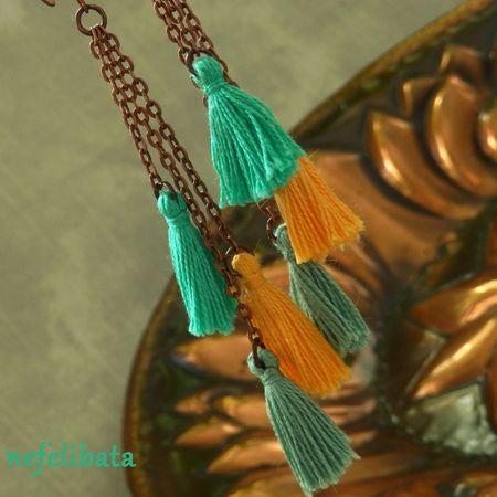Scent of Mint ° boho ° boho chic ° boheme ° hippies ° gypsy ° ethno ° jewelry ° freedom ° joy ° handmade ° tassel