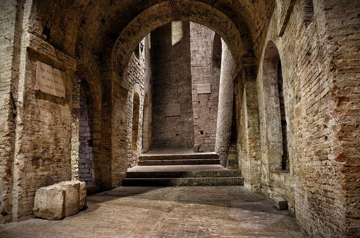 Perugia, Rocca Paolina. Take the escalator and dive in our