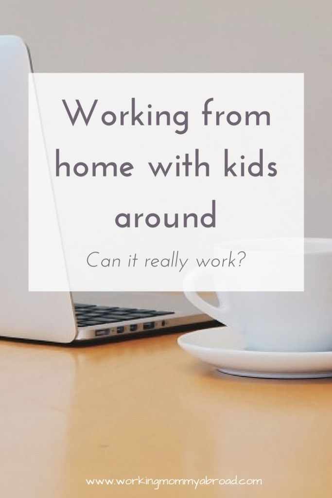 Can you really get work done from home when your kids are around? Read now or pin for later.