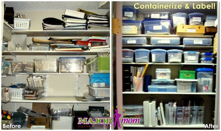 Containerize Closet Organize Declutter Before And After Pinterest Declutter