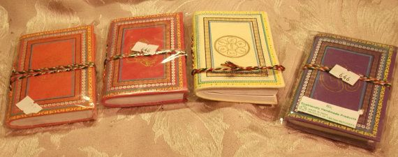 Small Tibetan Notebooks, with hand-made paper inserts, Free Tibet